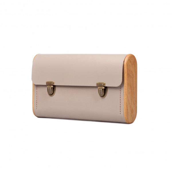 DUBLE REEL cream clutch