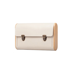 DUBLE REEL beige clutch