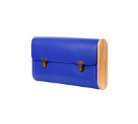 DUBLE REEL Royal blue clutch