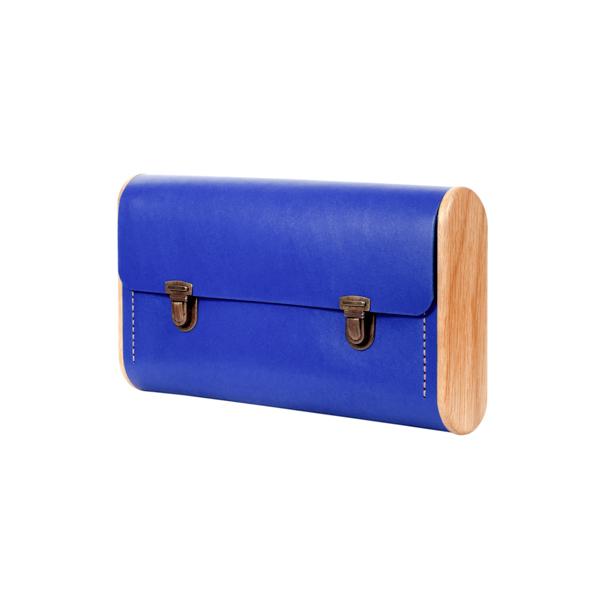 DUBLE REEL Royal blue clutch
