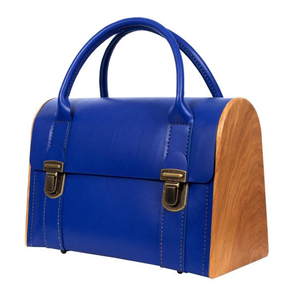 JENNY PLUCK PEARS Royal blue handbag
