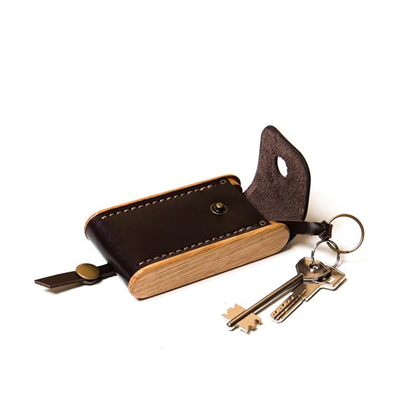 BREATLEY key case dark choco
