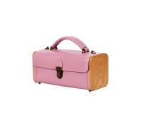 LADIES' STEP rose quartz handbag