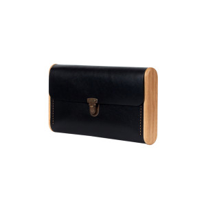 SINGLE REEL black onyx clutch