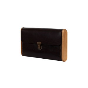 SINGLE REEL dark choko clutch