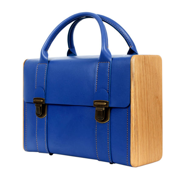 SIR ROGER DE COVERLEY Royal blue briefcase