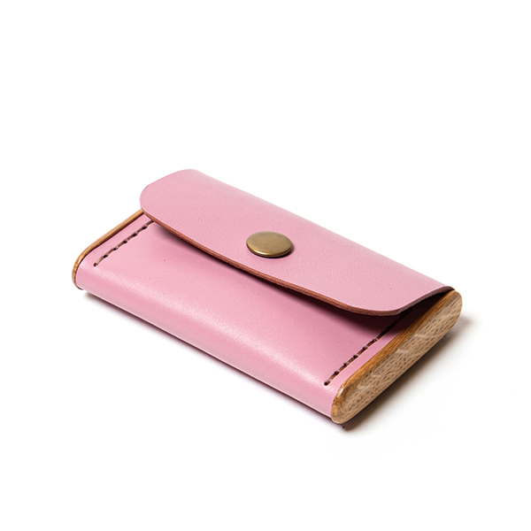 BREATLEY cardholder rose quartz