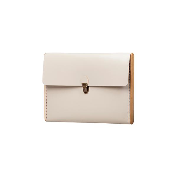 CHANTEY cream сlutch-folder