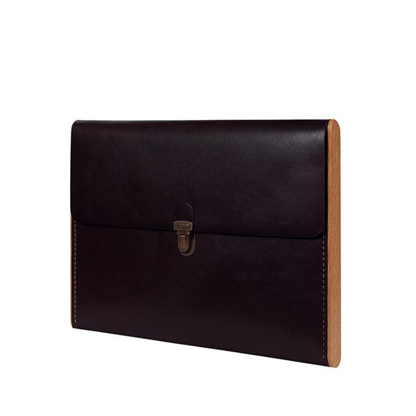 CHANTEY dark choco сlutch-folder