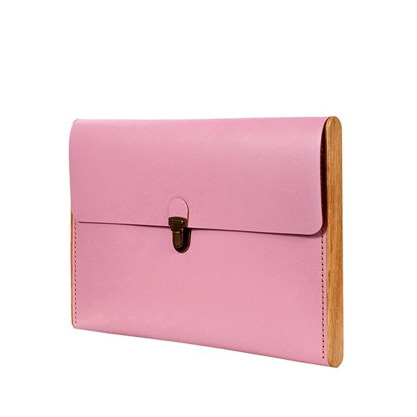 CHANTEY rose quartz сlutch-folder