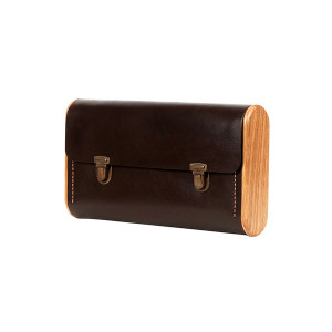 DUBLE REEL dark choco clutch
