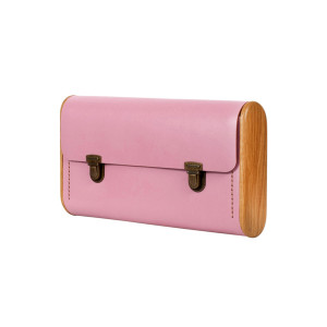 DUBLE REEL rose quartz clutch