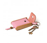 BREATLEY key case rose quartz