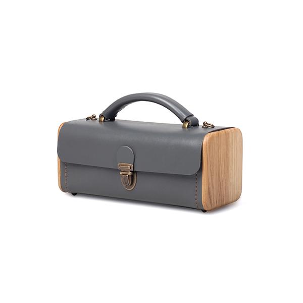 LADIES'STEP graphite handbag