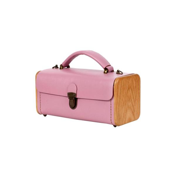 LADIES'STEP rose quartz handbag